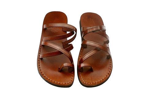 Vegan Brown Buckle-Free Handmade Sandals For Men & Women