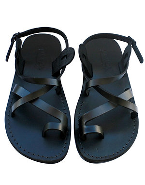 Black Roxy Leather Sandals For Men & Women