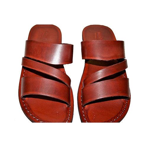 Brown Flip Leather Sandals For Men & Women