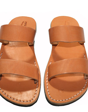 Caramel Bio Leather Sandals For Men & Women