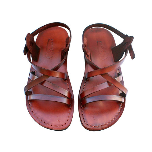 Brown Star Leather Sandals For Men & Women