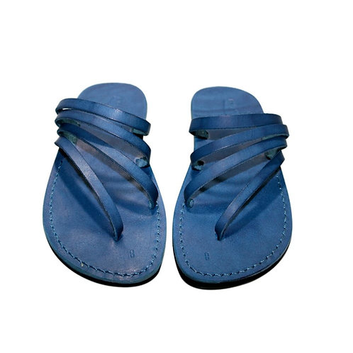 Blue Rainbow Leather Sandals For Men & Women