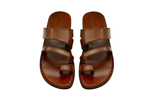 Vegan Brown Thong Handmade Sandals For Men & Women