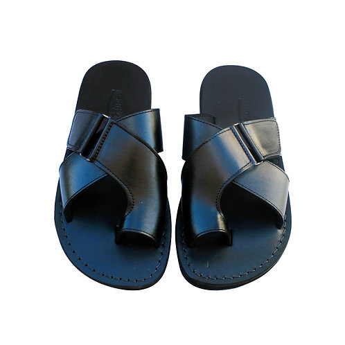 Black Tiger Leather Sandals For Men & Women