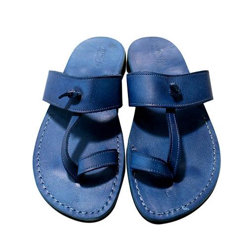Blue Twizzle Leather Sandals For Men & Women