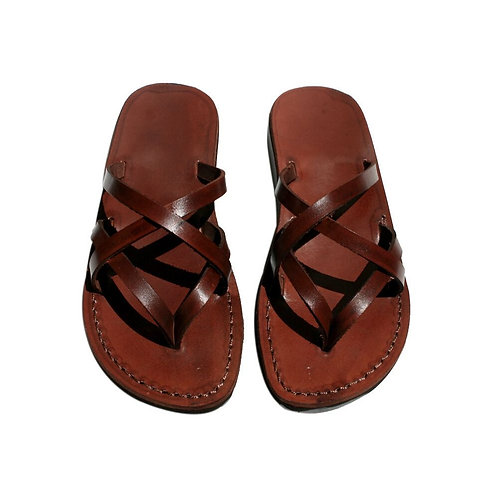 Brown Mixin Leather Sandals For Men & Women