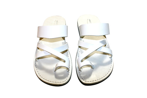 White Bath Leather Sandals For Men & Women