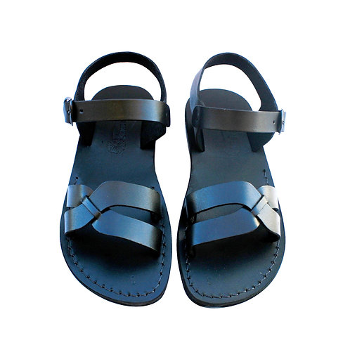 Black Circle Leather Sandals For Men & Women