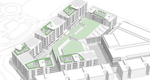Complete acoustic design of 377 apartments, creche/cinema and retail at Charlestown.