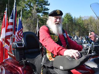 Veterans honored at Rolling Thunder's Operation Hat Trick