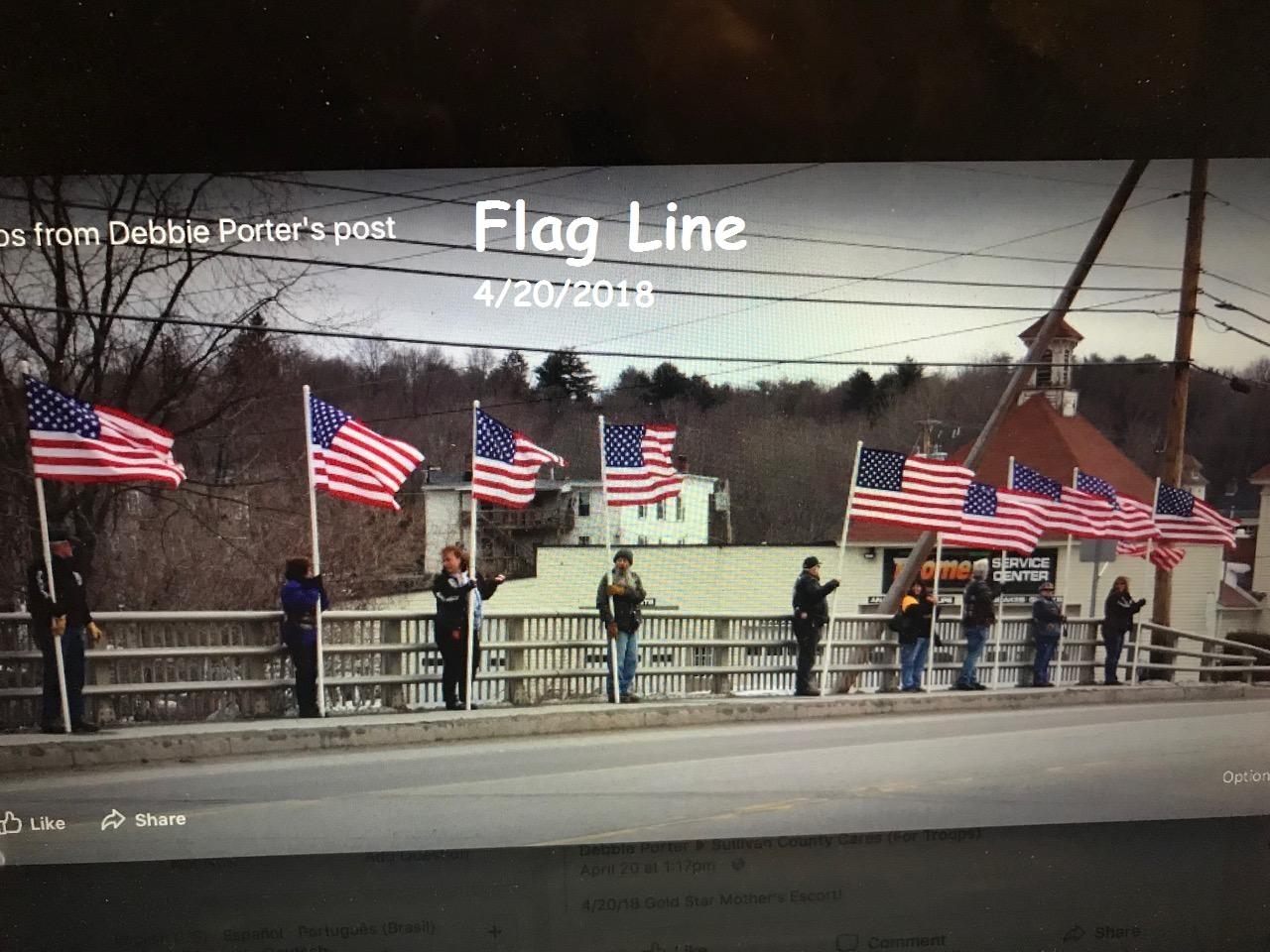 flag line