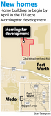 Construction to begin by April 2016 on Morningstar development west of Fort Worth