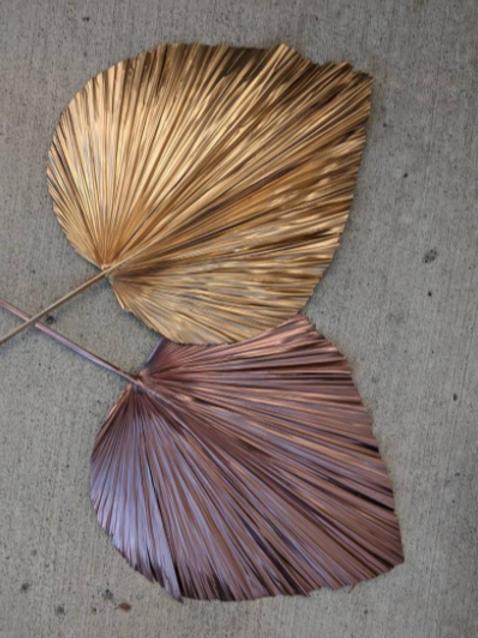 XLarge Anahaw Rose Gold Leaf