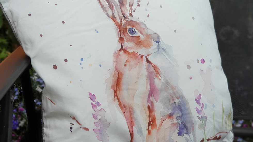 Patio Cushion with Hare