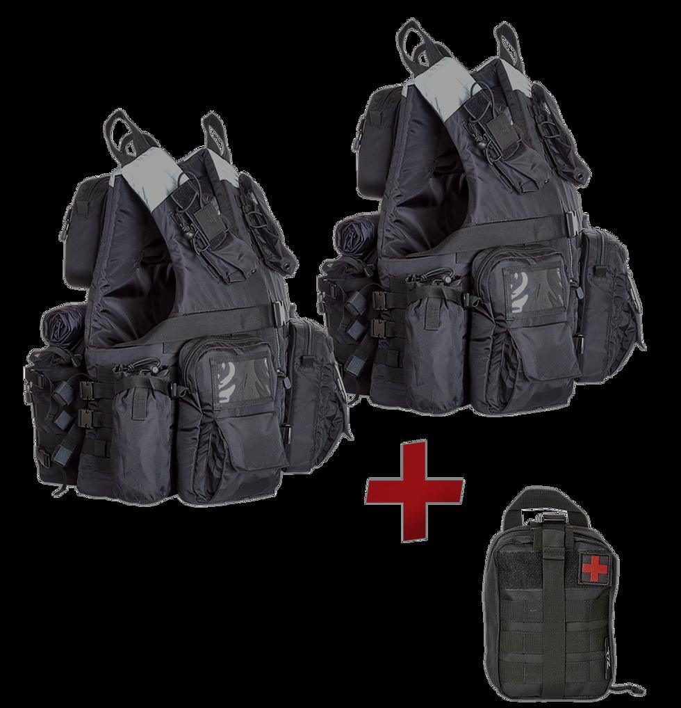 Grab&Go Vest 2-Pack Bundle + one free modular first aid kit