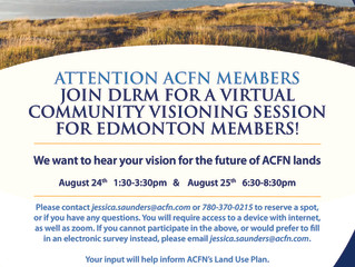 DLRM Virtual Community Visioning Session - Edmonton ACFN Members