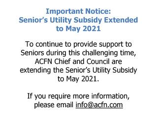 Senior's Utility Subsidy - Extension