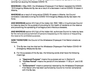 COVID-19 Emergency Measures By-law