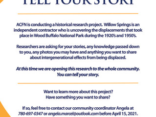Wood Buffalo National Park:                    Tell Your Story