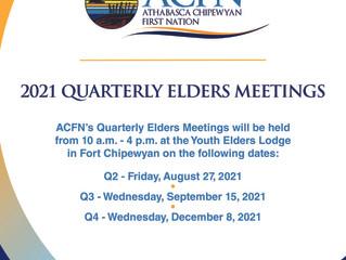 Updated: 2021 Quarterly Elders Meetings