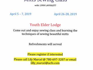 Upcoming Mitt Sewing Class!