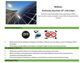 Grand Opening - 3NE Solar Farm Webinar November 18 - Invitation