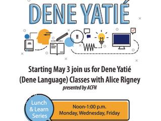 Virtual Dene Language Classes Starting May 3