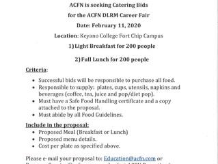 Seeking Catering Bids for ACFN/DLRM Career Fair, February 11, 2020