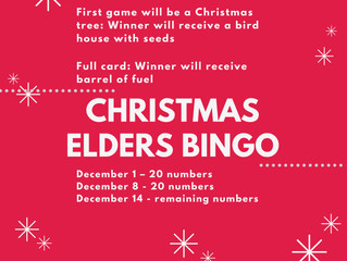 Special Christmas Elders Bingo