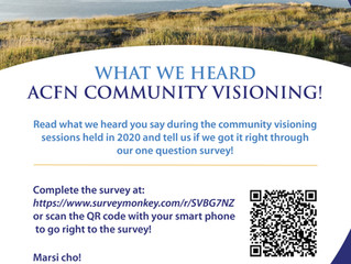 ACFN Community Visioning - What We Heard One-Question Survey
