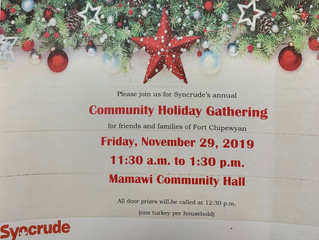 Syncrude's Annual Community Holiday Gathering - November 29, 2019.
