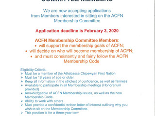 Call Out for ACFN Membership Committee Members - Apply by:  February 3, 2020