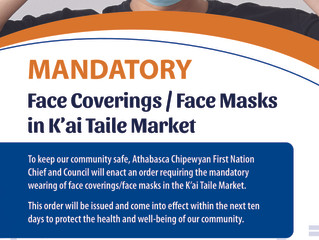 K'ai Taile Market - Notice of Intent: Mandatory Face Masks/Face Coverings
