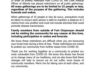 Mass Gathering Restrictions - Wakes and Funerals