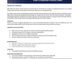 Acden Vertex - Temporary Employment Opportunity