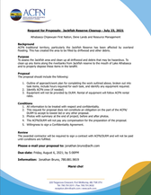 Request for Proposals:  Jackfish Reserve Cleanup
