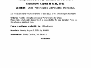 Call-out for Volunteers - Dene Days