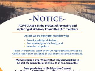 ACFN DLRM Committee Notice