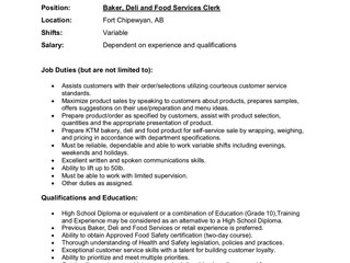 Employment Opportunity - K'ai Taile Market