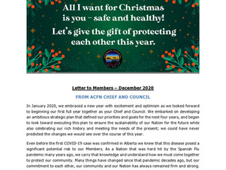 ACFN Chief and Council Letter to Members December 2020