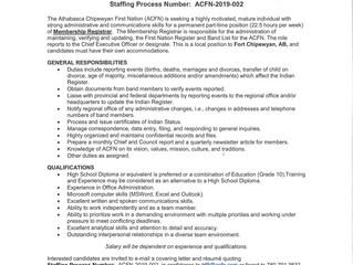 Employment Opportunity - Membership Registrar