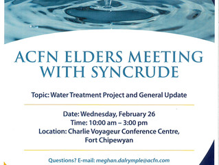 ACFN Elders' Meeting with Syncrude - February 26, 2020.