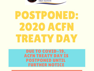 2020 ACFN Treaty Day Postponed