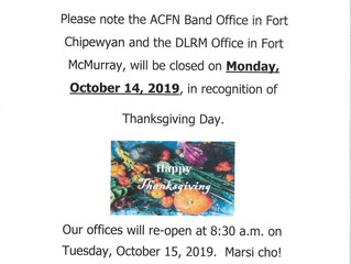 Thanksgiving Day Office Closure