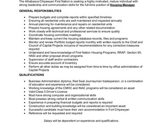 Employment Opportunities with ACFN