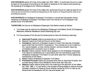 COVID-19 Emergency Measures (Reserve Residence Social Distancing) By-law