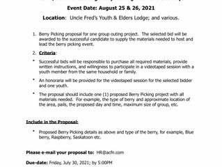 Request for Bids:  Berry Picking