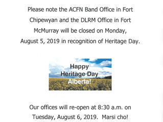 Heritage Day Office Closure