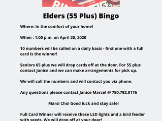 Play Elders Bingo - From Your Own Home!