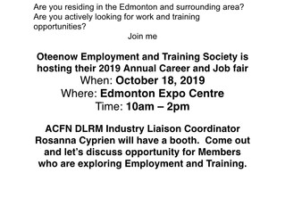 Job Fair - Edmonton - October 18, 2019